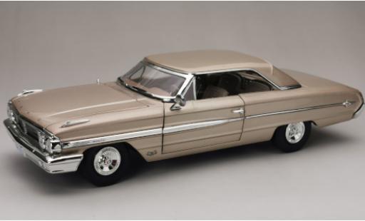 Ford Galaxy 1/18 Sun Star Galaxie 500 XL Hardtop metallise beige 1964 miniature