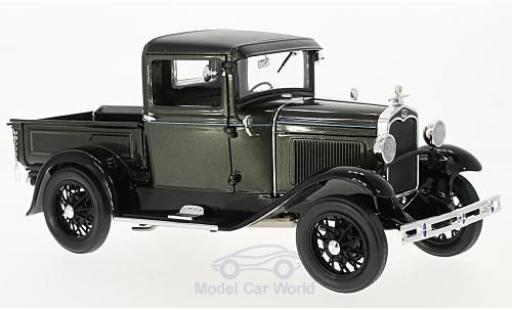 Ford Model A 1/18 Sun Star Pick Up metallise green/black 1931 diecast model cars