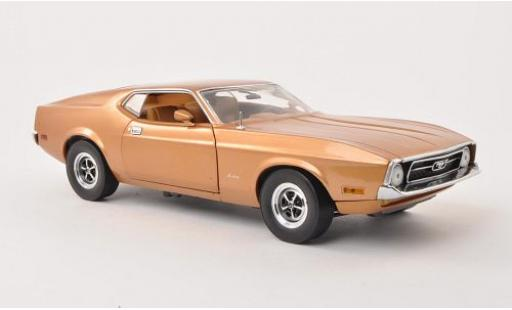 Ford Mustang 1/18 Sun Star Sportroof metallise marron UN 1971 miniature