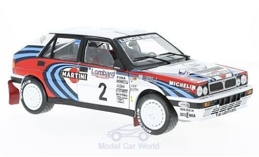 Lancia Delta 1/18 Sun Star HF Integrale 16V No.2 Martini RAC Rallye 1991 J.Kankkunen/J.Piironen ohne Vitrine miniature