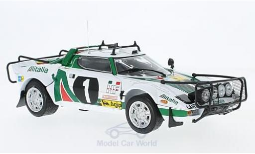 Lancia Stratos Rallye 1/18 Sun Star HF Rally No.1 Alitalia WM Safari 1976 B.Waldegard/H.Thorszelius miniature