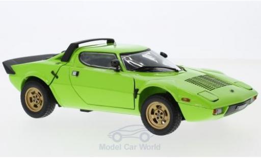 Lancia Stratos 1/18 Sun Star Stradale verte 1975 ohne Vitrine miniature