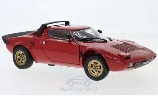 Lancia Stratos 1/18 Sun Star Stradale rouge 1975 ohne Vitrine miniature