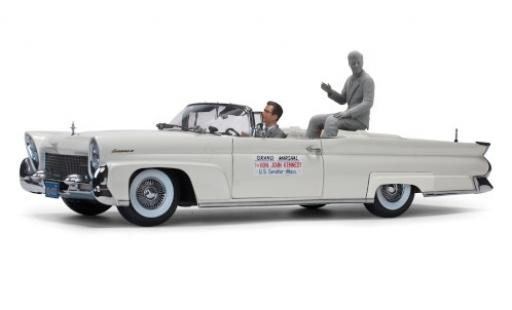 Lincoln Continental 1/18 Sun Star Mk III Convertible metallise grise John F.Kennedy in Oregon 1960 1958 mit 2 Figuren miniature