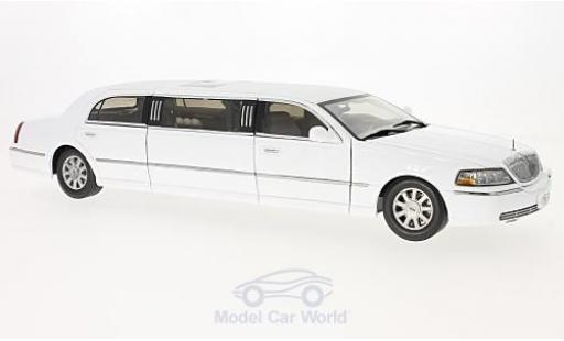 Lincoln Town Car 1/18 Sun Star Limousine blanche 2003 miniature