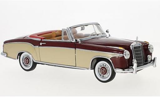 Mercedes 220 1/18 Sun Star SE Cabriolet rot/beige 1958 modellautos