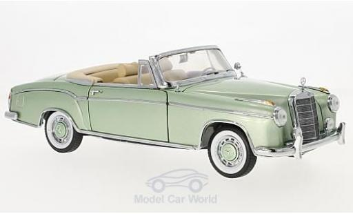 Mercedes 220 SE 1/18 Sun Star Cabriolet metallise green 1958 diecast model cars