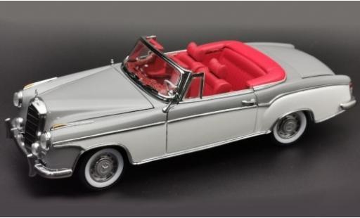 Mercedes 220 1/18 Sun Star SE Cabriolet (W180 II) grise/blanche 1958 Verdeck geöffnet miniature