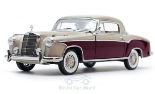 Mercedes 220 1/18 Sun Star SE Coupe beige/rouge 1959 miniature