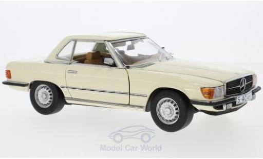 Mercedes 350 1/18 Sun Star SL (R107) beige 1977 HardTop miniature
