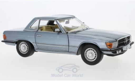 Mercedes 350 1/18 Sun Star SL (R107) métallisé bleue 1977 HardTop miniature