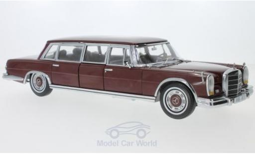 Mercedes 600 1/18 Sun Star Pullman rouge 1966 miniature