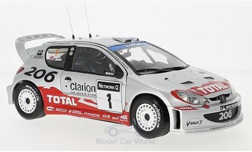 Peugeot 206 WRC 1/18 Sun Star No.1 Rallye Großbritannien 2002 R.Burns/R.Reid diecast model cars