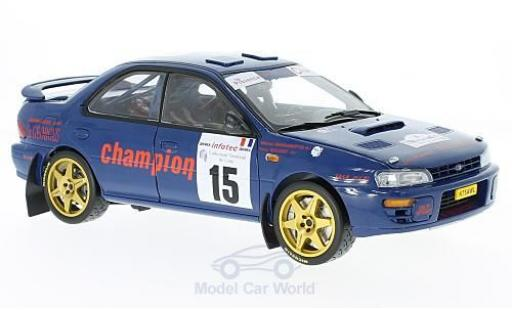 Subaru Impreza 555 1/18 Sun Star 555 No.15 Tour de Corse 1996 M.Massarougeto/Y.Bouzat miniature