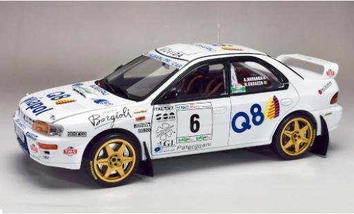 Subaru Impreza 1/18 Sun Star 555 No.6 Rally Il Ciocco 1998 A.Navarra/R.Casazza miniature