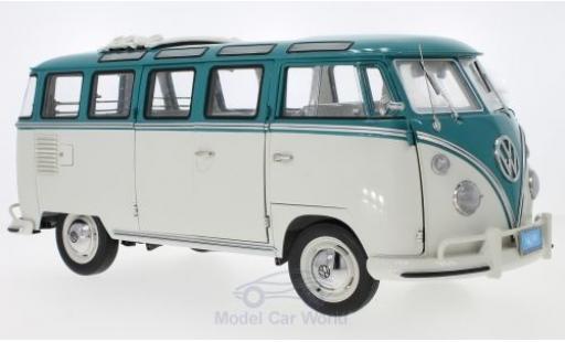 Volkswagen T1 1/18 Sun Star Samba Bus turquoise/grise 1962 miniature