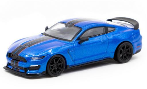 Ford Mustang 1/64 Tarmac Works Shelby GT350R metallise blue/black diecast model cars