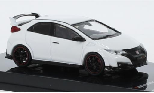 Honda Civic 1/64 Tarmac Works Type R (FK2) blanche RHD 2016 miniature