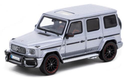 Mercedes Classe G 1/64 Tarmac Works AMG G 63 (W463) matt-grise/Dekor miniature