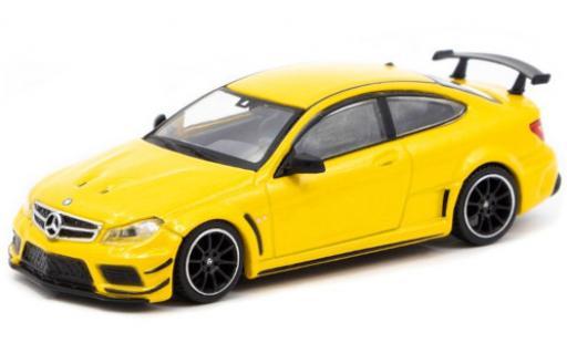 Mercedes Classe C 1/64 Tarmac Works C 63 AMG Coupe Black Series (C205) metallise jaune miniature