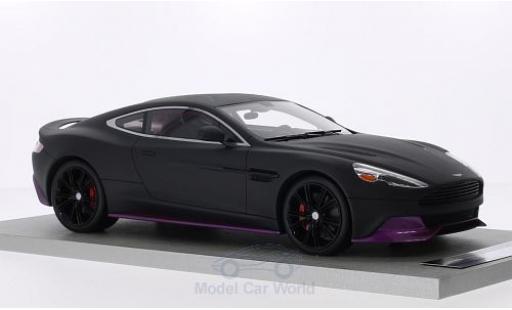 Aston Martin Vanquish 1/18 Tecnomodel Coupe matt-noire/metallise lila mit rougeem Interieur miniature