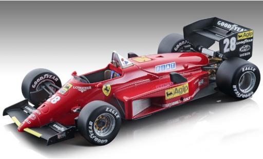 Ferrari 156 1/18 Tecnomodel -85 No.28 Scuderia Formel 1 GP Nürburgring 1985 y compris les Decals S.Johansson coche miniatura