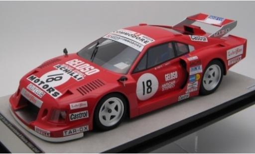 Ferrari 308 1/18 Tecnomodel GTB Turbo No.18 Team Jolly Club 6h Silverstone 1981 C.Facetti/M.Finotto diecast model cars