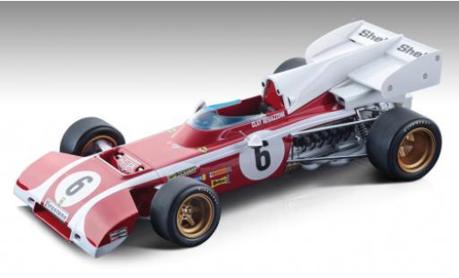 Ferrari 312 1/18 Tecnomodel B2 No.6 Formel 1 GP Südafrika 1972 C.Regazzoni modellautos