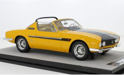 Ferrari 330 1/18 Tecnomodel GTS Spyder Michelotti yellow/matt-black 1967 diecast model cars