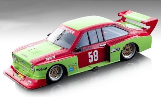 Ford Escort 1/18 Tecnomodel II RS Turbo No.58 Team Zakspeed DRM Zolder 1980 W.Boller miniature