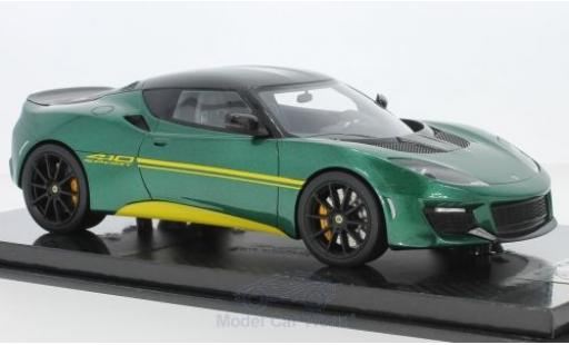 Lotus Evora S 1/18 Tecnomodel 410 metallise grün 2017 modellautos