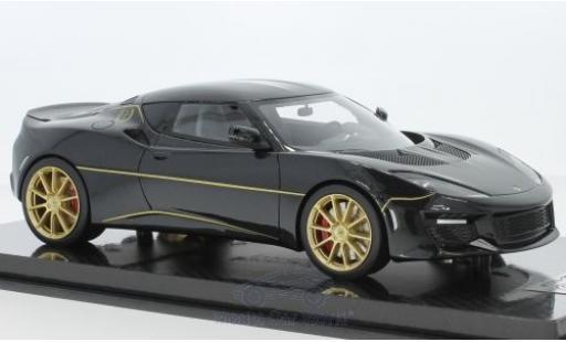 Lotus Evora S 1/18 Tecnomodel 410 metallic-noire 2017 World Champions 13 Titles Edition miniature