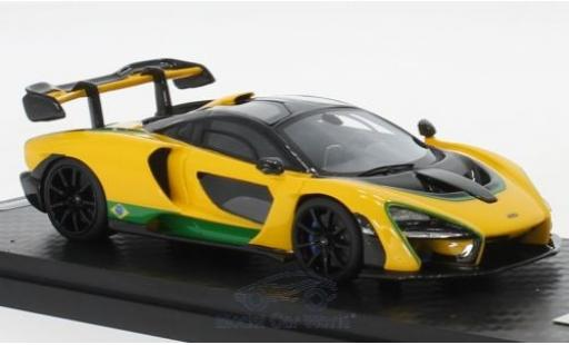 McLaren Senna 1/18 Tecnomodel 2018 Brazil Colour Version miniature