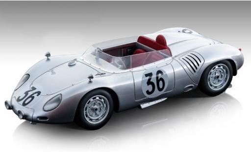Porsche 718 1/18 Tecnomodel RSK No.36 Baron Carel Godin de Beaufort 24h Le Mans 1959 C.Godin de Beaufort/C.Heins diecast model cars