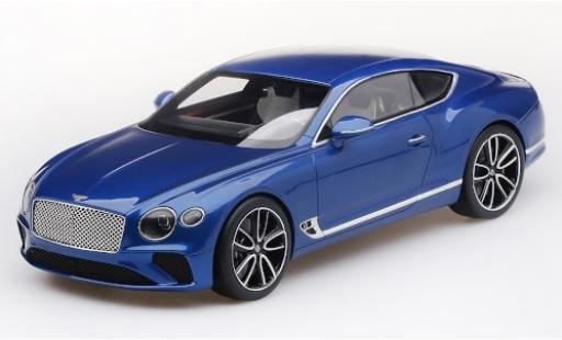 Bentley Continental test 1/18 Top Speed GT metallise bleue 2018 test miniature