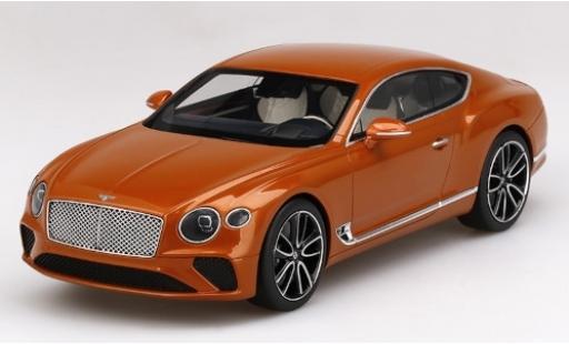 Bentley Continental 1/18 Top Speed GT metallise orange 2018 modellino in miniatura