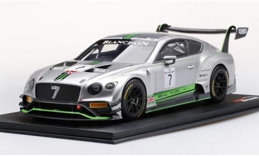 Bentley Continental 1/18 Top Speed GT3 RHD No.7 Team M-Sport Blancpain GT Series Monza 2018 G.Smith/S.Kane/J.Gounon miniature