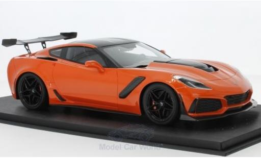 Chevrolet Corvette C7 1/18 Top Speed C7 ZR-1 metallic-orange/carbon diecast