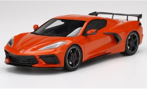Chevrolet Corvette 1/18 Top Speed C8 Stingray orange 2019 modellino in miniatura