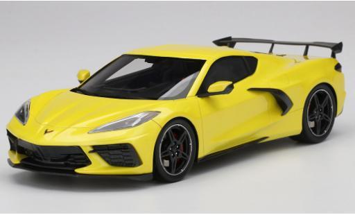 Chevrolet Corvette 1/18 Top Speed C8 Stingray metallise yellow 2020 diecast model cars
