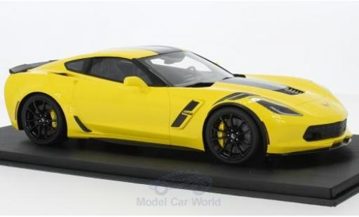 Chevrolet Corvette C7 1/18 Top Speed Grand Sport jaune/noire 2017 miniature