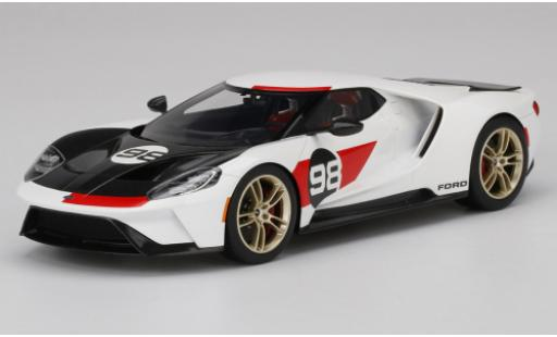 Ford GT 1/18 Top Speed Heritage Edition white/black 2021 diecast model cars