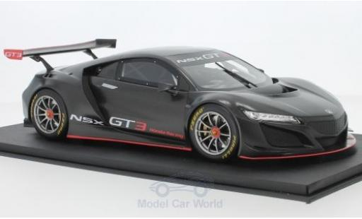 Honda NSX 1/18 Top Speed GT3 matt-grise 2017 Presentation miniature
