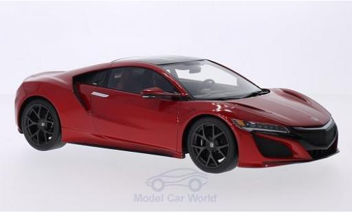Honda NSX 1/18 Top Speed metallise rouge/noire 2015 Autosalon Genf miniature