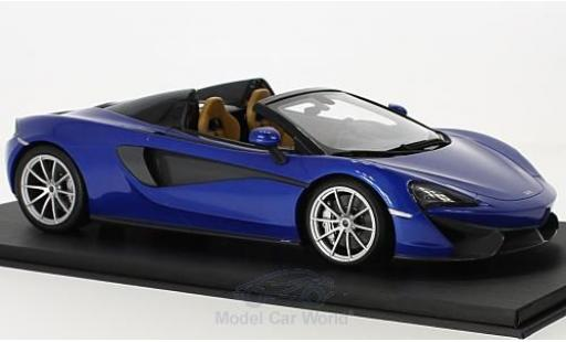 McLaren 570 1/18 Top Speed S Spider bleue miniature
