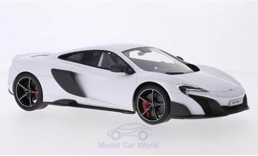 McLaren 675 1/18 Top Speed LT métallisé blanche 2015 miniature