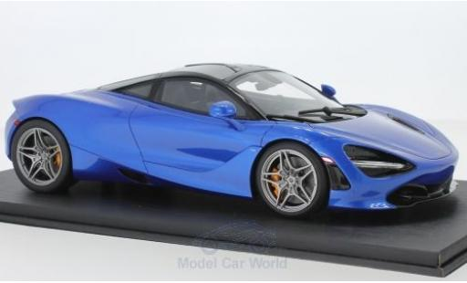McLaren 720 1/18 Top Speed S metallise bleue miniature