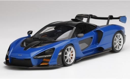McLaren Senna 1/18 Top Speed metallise bleue/noire 2018 miniature