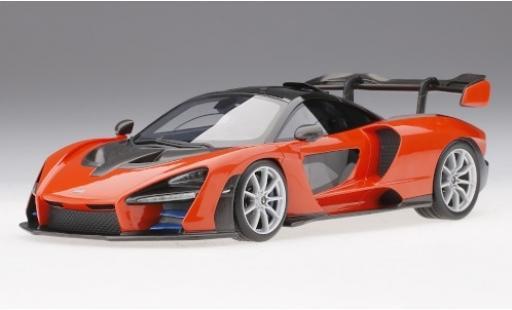 McLaren Senna 1/18 Top Speed métallisé orange miniature