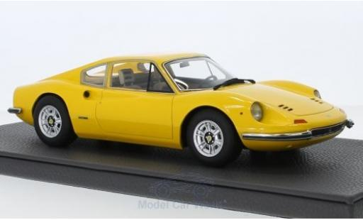 Ferrari Dino 1/18 Topmarques Collectibles 246 GT jaune miniature